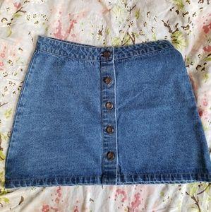Dresses & Skirts - Button front denim skirt